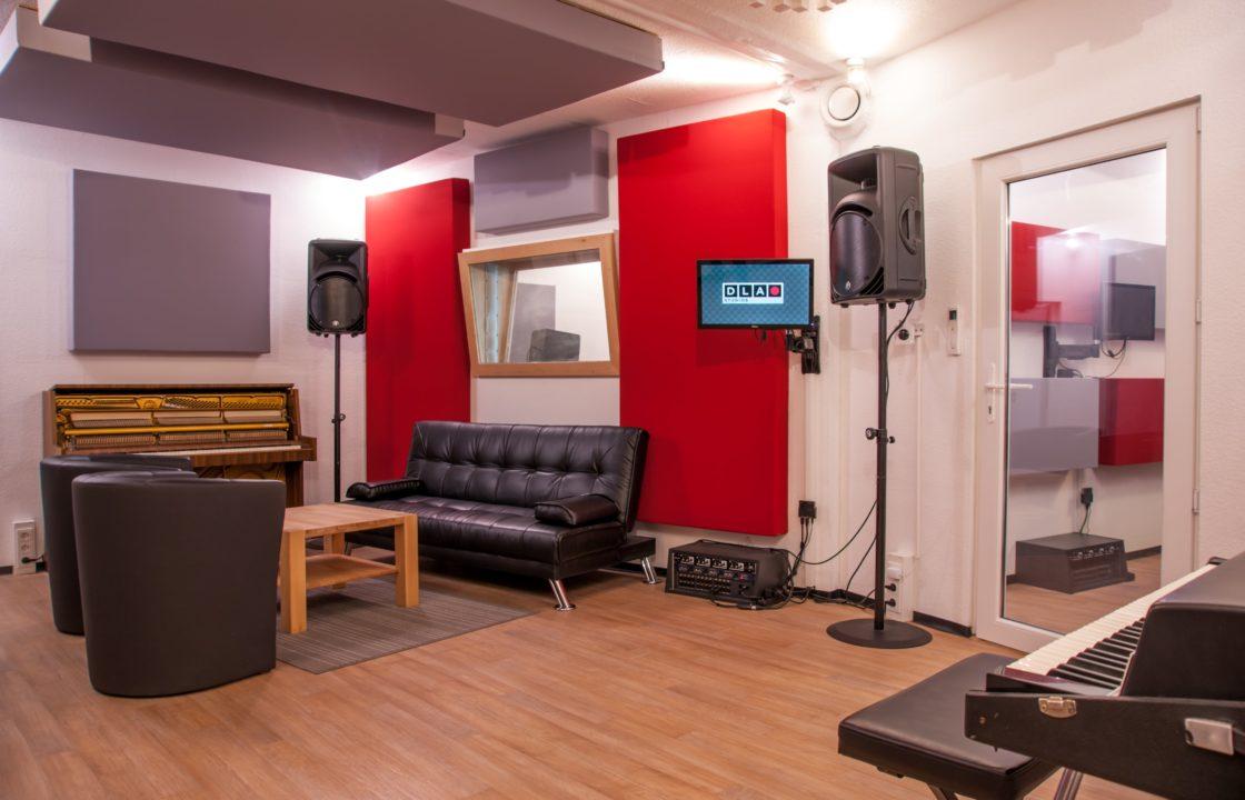 Aufnahmeraum DLA Studios Tonstudio Mannheim