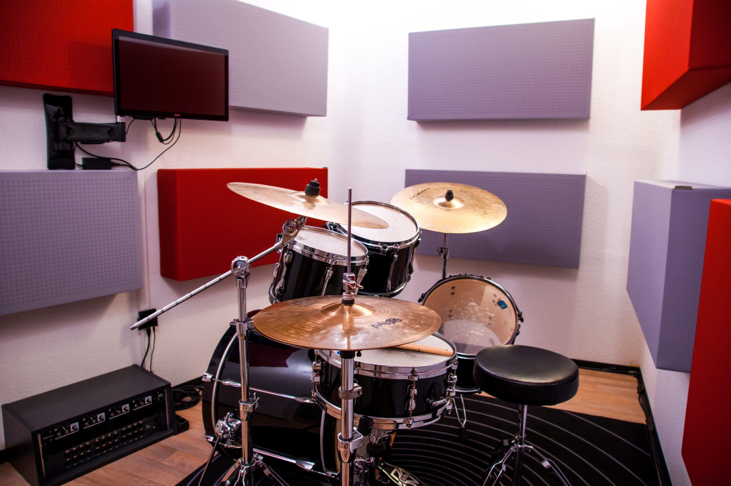 Schlagzeugkabine DLA-Studios Tonstudio Mannheim